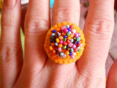 Mindenszínű káoszgyűrű, Ékszer, óra, Gyűrű, Meska