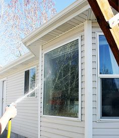 Easy way to clean your outside windows