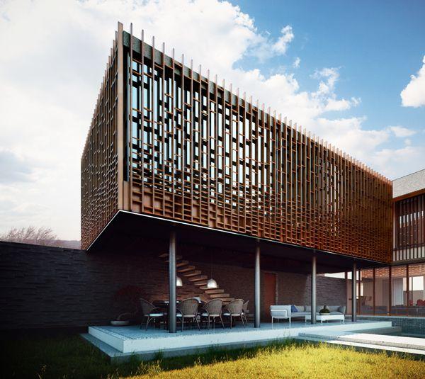 Timber facade screen pinterest facades