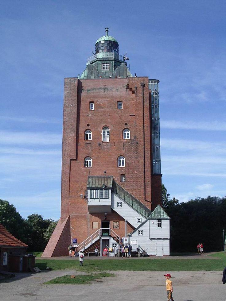 Leuchtturm Neuwerk. Steht bei Hamburg an der Elbmündung, ab 1814 zum Leuchtturm ausgebaut und ist Hamburgs ältestes Gebäude. Germany