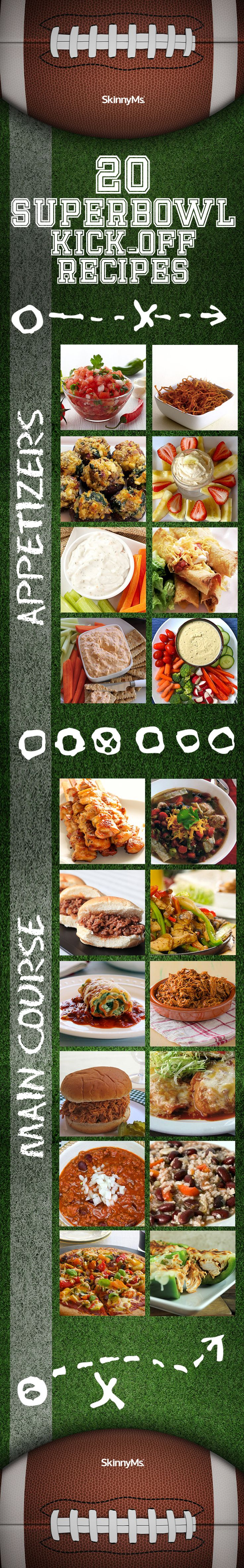 Go ahead and splurge for Superbowl Sunday, and without an ounce of guilt! From pizza to stuffed mushrooms to Skinny Chicken Taquitos, there's something for everyone. #cleaneatingrecipes