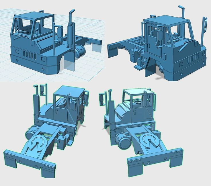 Yard Tractor 1-87 HO Scale  #3d #3dprint #3dprinting #ho #hoscale #187scale #187 #187scalemodel #shapeways #truck #trains #kit #kitbash #miniatures #custom #detail #custommodelcreations #modelrailroad #railroad #model #modeltrains #Industrial #intermodal #container #containeryard #yard #yardtractor #vehicle #semi #tractor by custommodelcreations