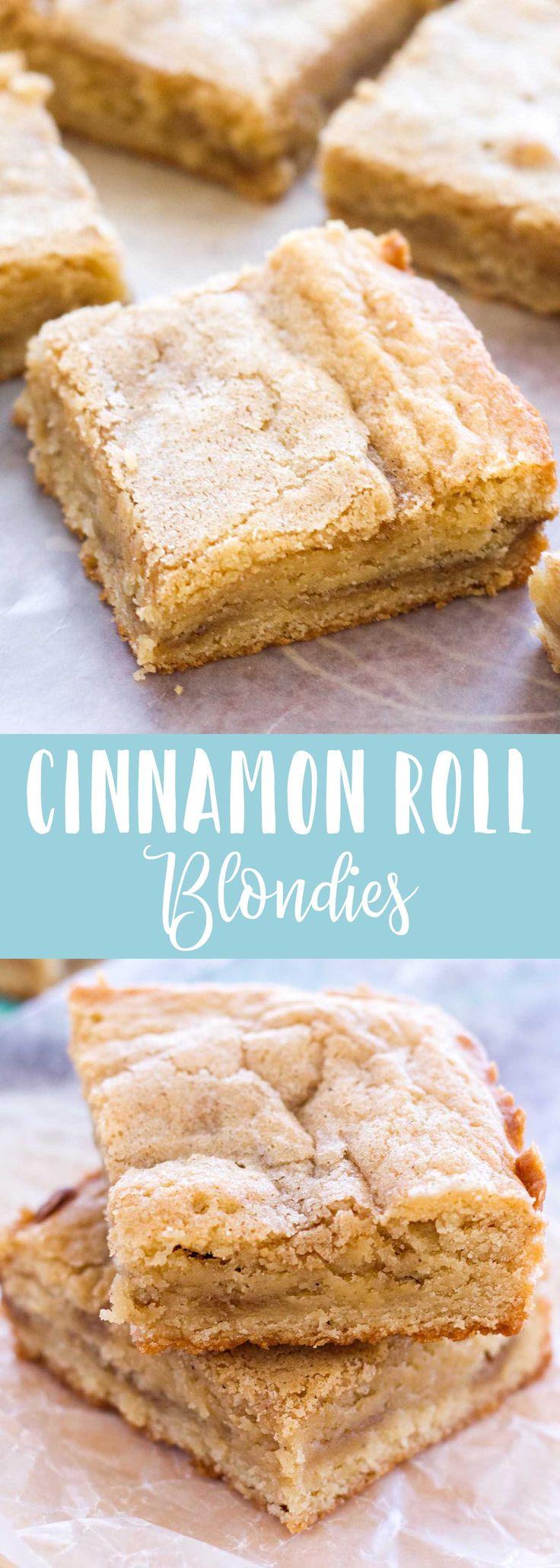 #cinnamonrollblondies #gourmetbrownies