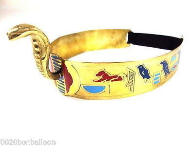 Egyptian Queen Cleopatra Cobra Crown Headband & Armband Set