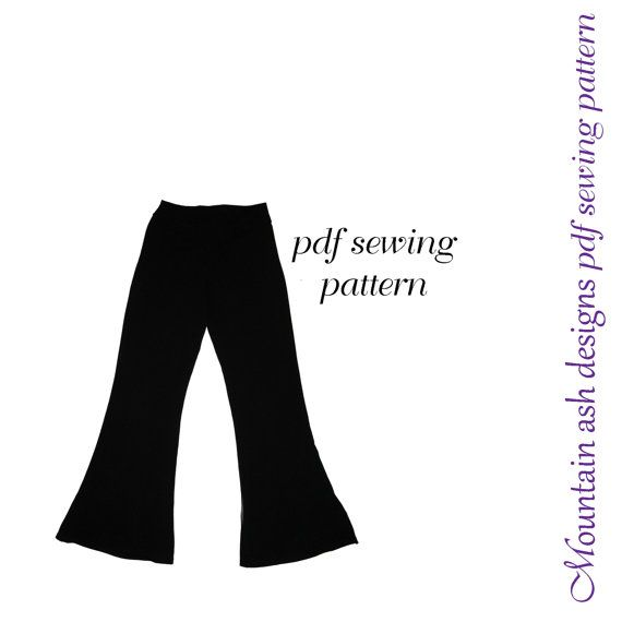 Flared Leggings and Jazz Pants pdf sewing pattern by tumblentwirl, $6.00