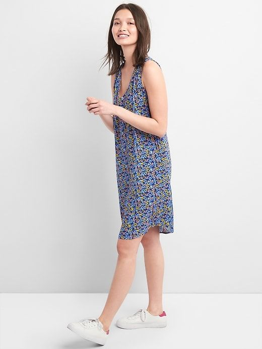 bfd28421c Gap Womens Sleeveless V-Neck Shift Dress Navy Floral | Products ...