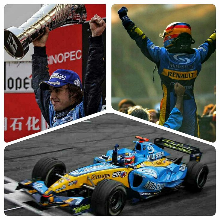 On This Day In F1 ~ Fernando Alonso and the Renault F1 team won the World Constructors' Championship and capped off the World Drivers Championship at the Chinese Grand Prix on October 16, 2005,  ending five years of dominance by Michael Schumacher and Ferrari. #F1 #Formula1 #FernandoAlonso #RenaultF1 #OnThisDay