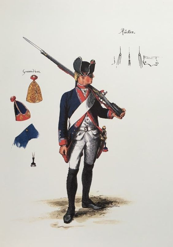 Prussia; 20th Infantry Regiment, Musketeer, c.1750 by Adolph Menzel