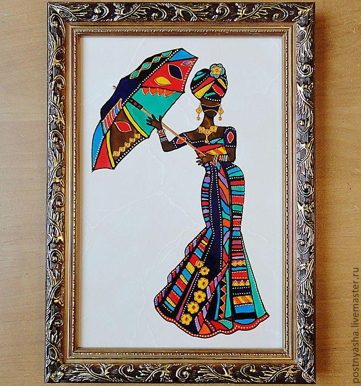 Купить Картина Африканка-2 - африка, африканский стиль, африканские мотивы, женщина, картина, подарок