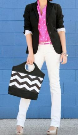 everything but the purseWhite Skinny Jeans, Colors Combos, Polka Dots, White Pants, Black White, Bright White, White Jeans, Style Blog, Black Blazers
