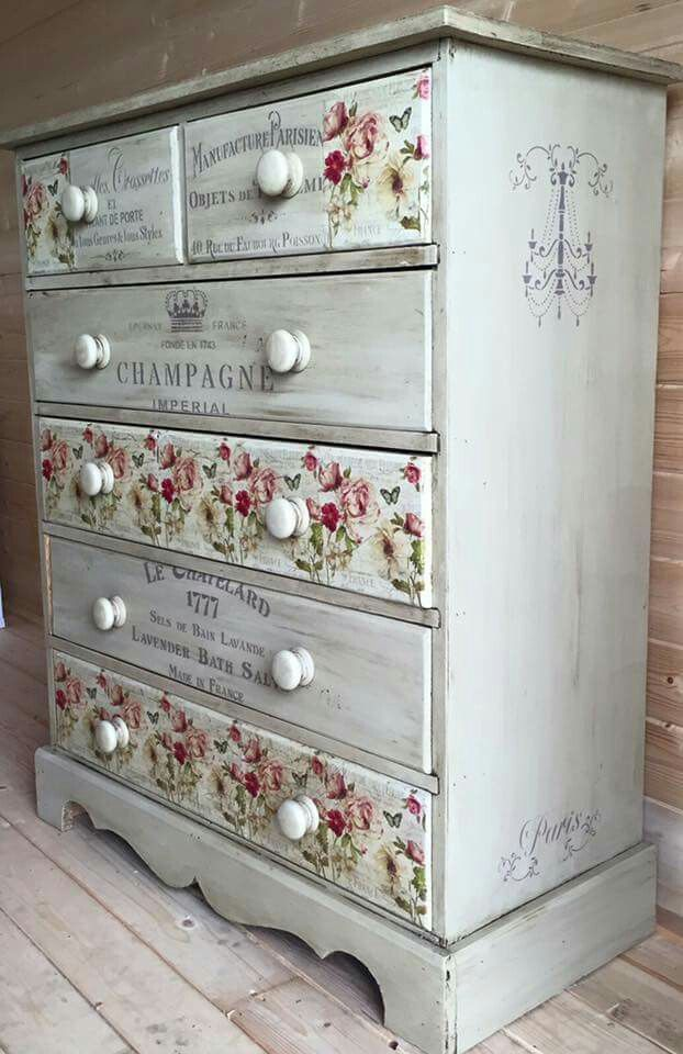 1354 best images about muebles restaurados furniture on - Dormitorios shabby chic ...