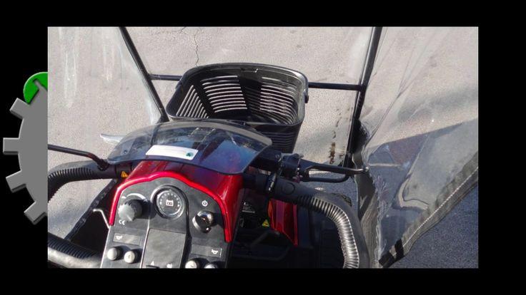 Scooter Elettrico per Disabili e Anziani con Copertura per la Pioggia Ve...