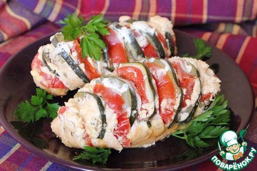 Куриные грудки с овощами в соусе - кулинарный рецепт