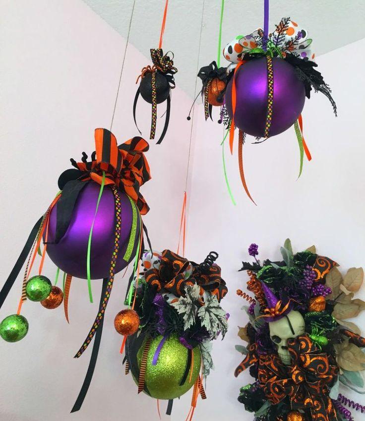 woman buys jumbo christmas ornamentslook at her incredible idea for halloween - Halloween Christmas Ornaments