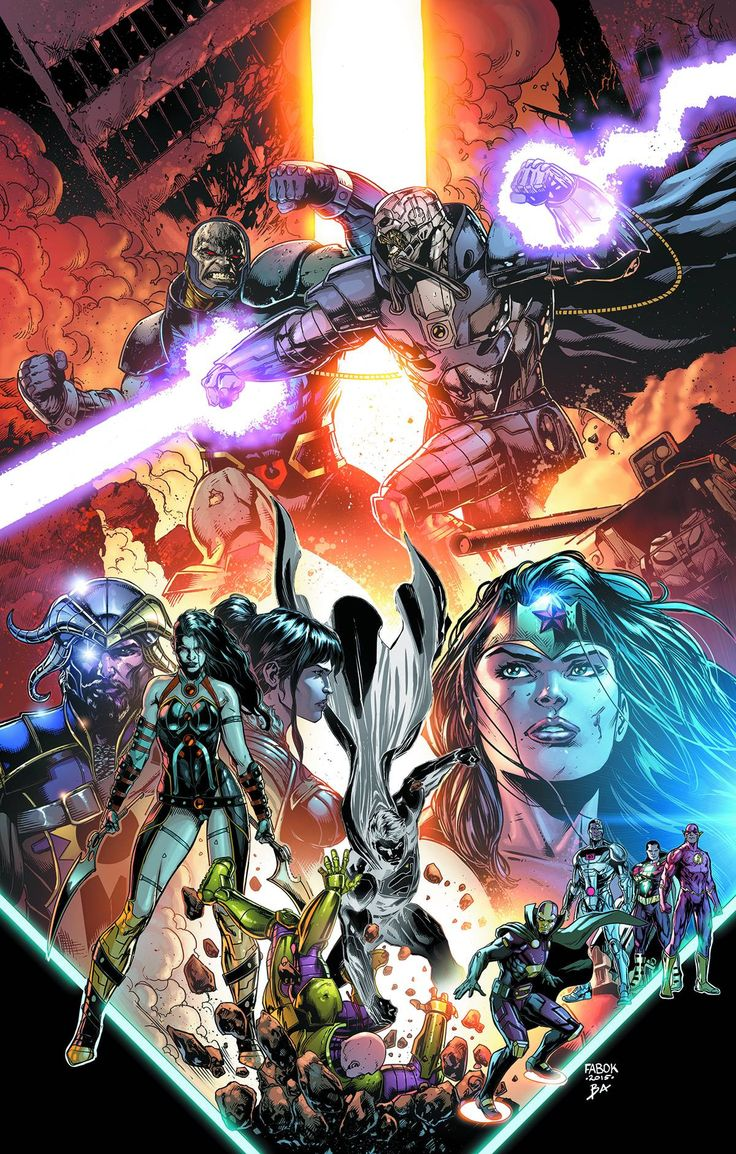"*High Grade* (W) Geoff Johns (A/CA) Jason Fabok Darkseid versus Anti-Monitor! A corrupted Superman versus Lex Luthor! Myrina Black versus Grail! This chapter of ""Darkseid War"" has it all-plus an endin"