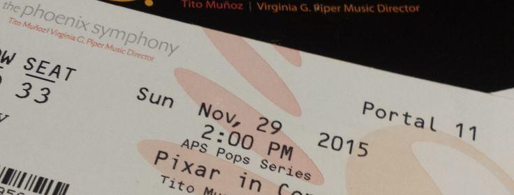 Pixar in Concert, Phoenix Symphony