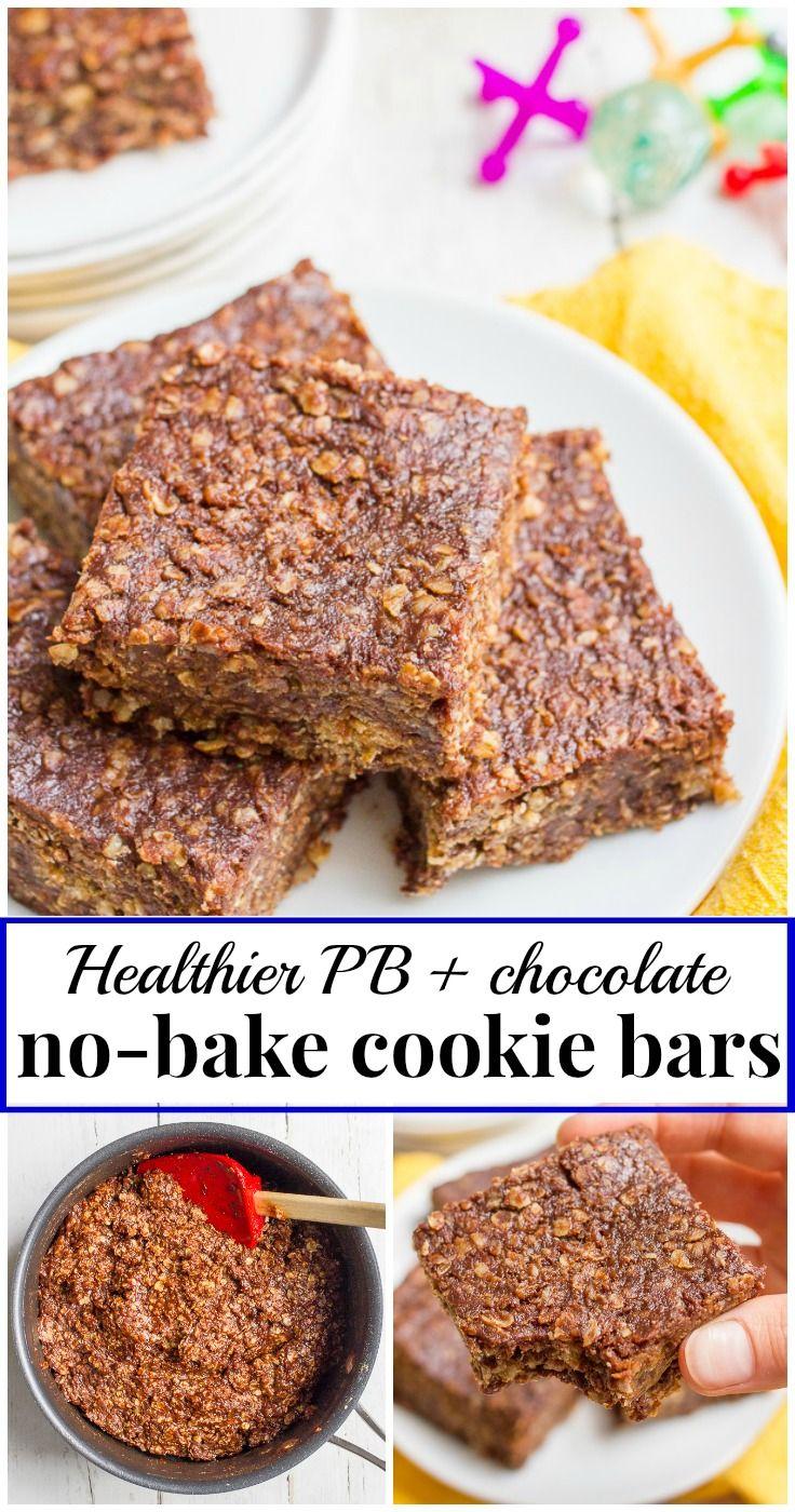 No-Bake Oatmeal Chocolate Chip Cookie Bars