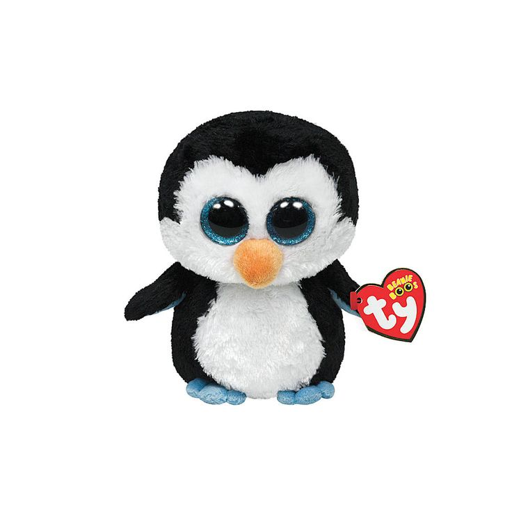 "<P>When I swim, I go really fast! But when I run, I'm usually last!</P><P>Waddles is a black and white penguin with big glittery blue eyes. Part of the Ty Beanie Boos collection. Collect them all!</P><UL><LI><B>Online only item</B><LI>Birthday: May 11th <LI>6""H<LI>Plush</LI></UL>"