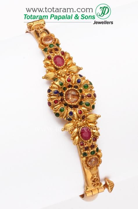 22K Fine Gold Fancy Bracelet Kada