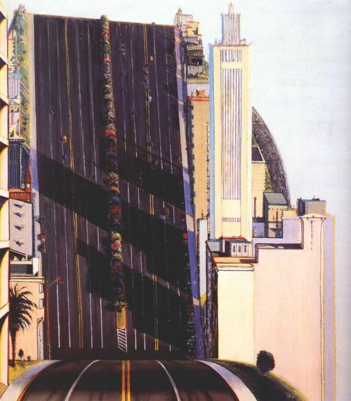 Работа «Широкая улица», художник Уэйн Тибо – сотни тысяч самых популярных работ на портале, посвященному искусству, «Артхив».