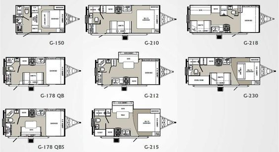 micro floor plans | Palomino Gazelle micro-lite travel trailer floorplans - large picture
