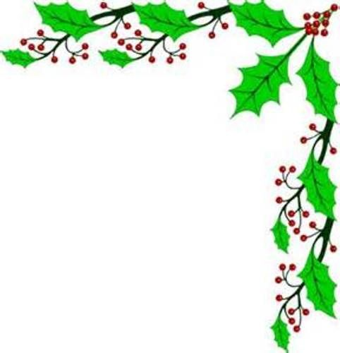 Christmas Holly Border Clipart.Pin On Plants Clipart