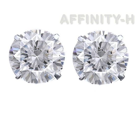 D/VVS Round Cut Solitaire Stud Earrings Push Back Solid .925 Sterling Silver #AffinityHomeShopping #Stud