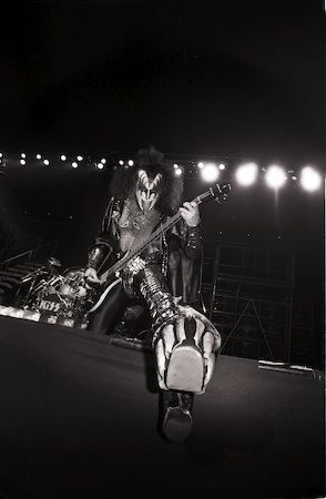Gene Simmons, NYC 1977 — Lynn Goldsmith
