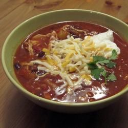 Chicken taco soup - a keeper in my house