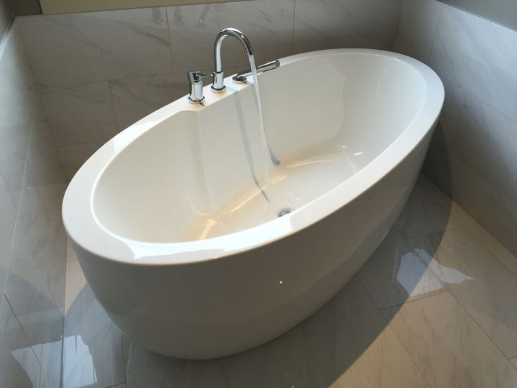 Installation of free standing tub.