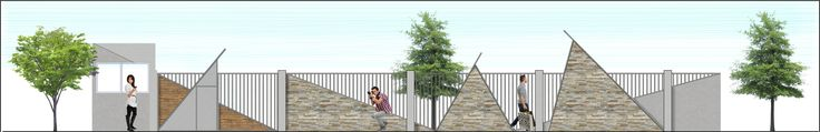 A boundary front wall proposal i did for apartments in Parklands, Nairobi, Kenya,Africa.