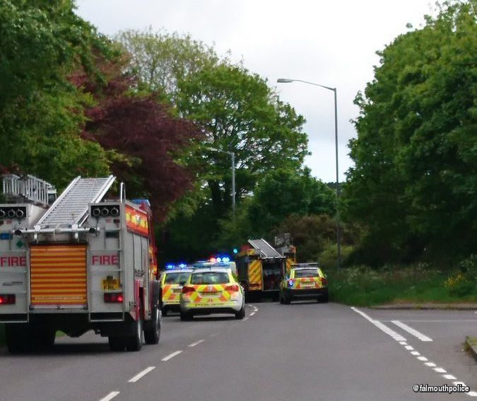 """BREAKING: Firefighters called to crash in Falmouth  Inrix Traffic and Travel said: """"Bickland Water Road, in both directions, is closed due to an accident between Bickland Hill and Mongleath Road. Traffic is coping   #ZincLegal #RoadTrafficAccident"""