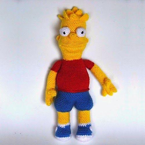 Patrones Amigurumi: Bart Simpson