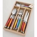 Laguiole Andre Verdier Debutant Polished 24pc Mixed colour