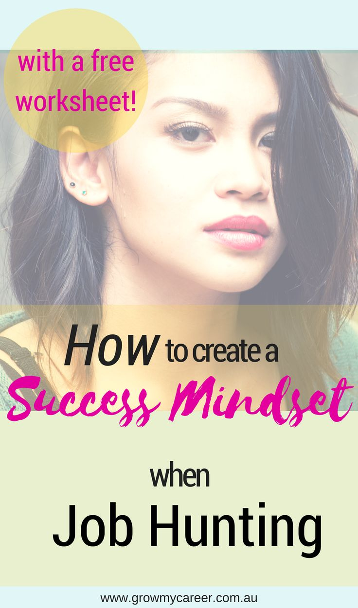 Overcome job hunting fear and create a success mindset!