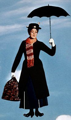 Mary Poppins and her famous carpet bag