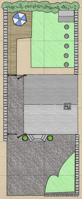 Initial first design of our garden...: