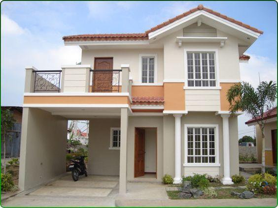 frentes de casas pequeñas de dos plantas