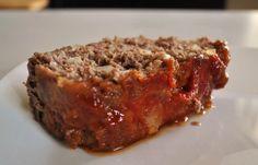 Upside Down Brown Sugar Meatloaf with Saltine Cracker Crumbs -- used BBQ sauce instead of ketchup