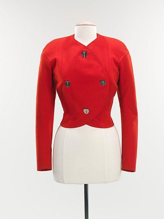 Jacket  Elsa Schiaparelli (Italian, 1890–1973)  Date: 1932 Culture: French Medium: wool, metal