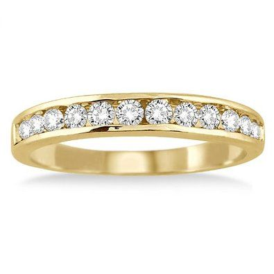 Beautiful AGS Certified Carat TW Channel Set Diamond Band in White Gold Day Money Back Guarantee Day Complimentary Repair Service Complimentary Packaging