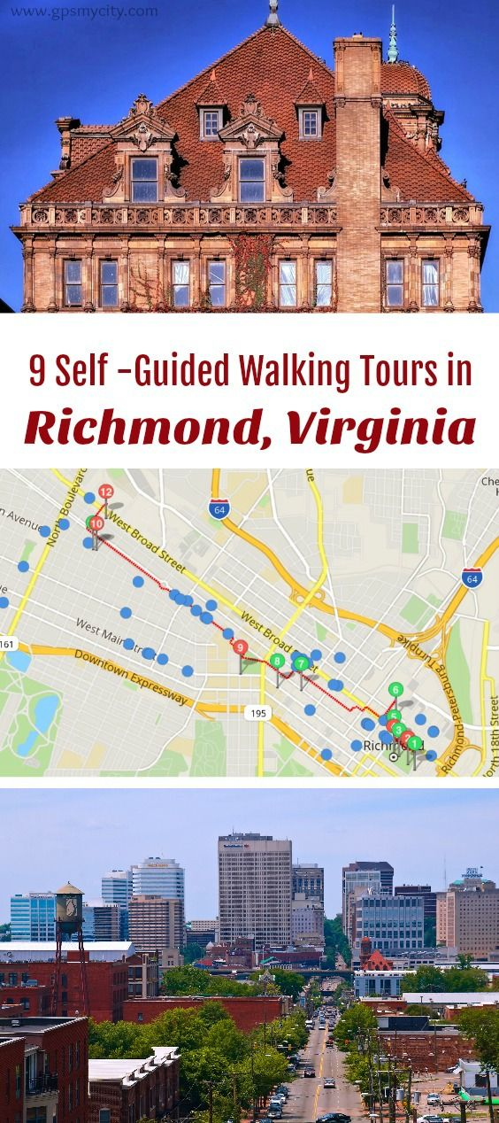 self guided walking tours in Richmond Virginia