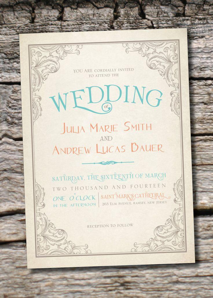 inexpensive wedding invitations with response cards%0A ELEGANT SCROLL Vintage Rustic Wedding Invitation Response Card       Professionally Printed Invitations  u     Response