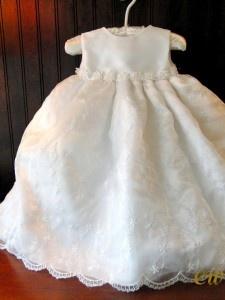 Hallie 2-piece baby girl dress for christenings, baptisms, weddings.