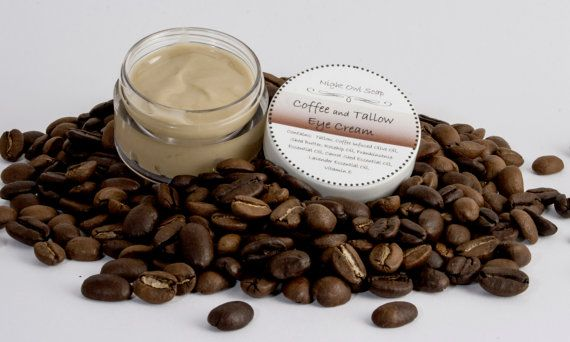 Coffee and Tallow Eye Cream All Natural by NightOwlSoap on Etsy