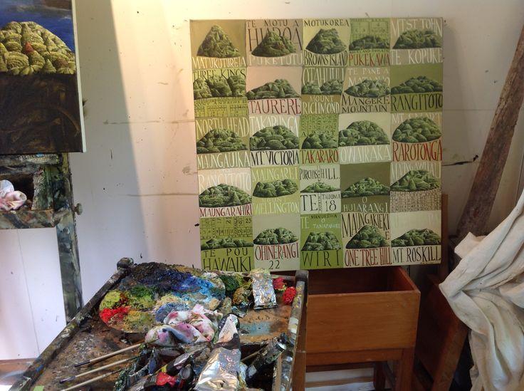 Studio shot of Mark Woollers,'Auckland Volcanoes' March 2015. Www.markwooller.com