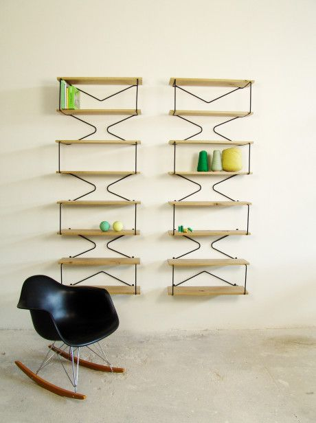 Bookshelves - via @crowdyhouse