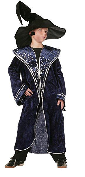 W3547 152 Blau Jungen Zauberermantel Magierkostum Gr 152 Kostum