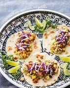 Tacos au chou-fleur croustillant avec une sauce à la mangue idée recette pinterest