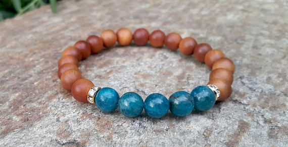 Check out this item in my Etsy shop https://www.etsy.com/uk/listing/558976075/weight-loss-bracelet-blue-apatite